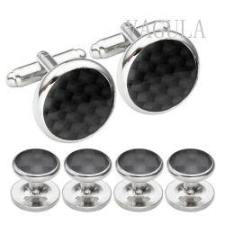 VAGULA New Men Gioielli in fibra placcata argento Tuxedo colletto a bottoni Prigionieri Cufflinks S308