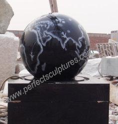 Сад камня мрамора гранита динамического сфере шарик фонтанчика для Fengshui (SF-B101)