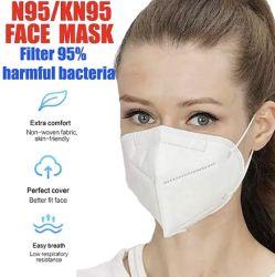 KN95 Cecertificate bucle oído máscaras faciales 5 capas de protección desechables Non-Woven médico-quirúrgicas planas/Máscara Civil