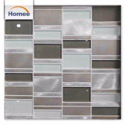 De het moderne Glas van de Oppervlakte van de Stijl Glanzende Binnen Decoratieve/Tegel van het Mozaïek van het Metaal