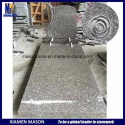 Maurer-Frankreich-Denkmal mit Rose, die im Granit G664 schnitzt