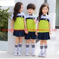 Schule-Jungen-und Mädchen-Sport-Abnützung der Schuluniform-Entwurfs-Kindergarten-Smoking-Kinder für Kind-Sport-Uniform (U183)