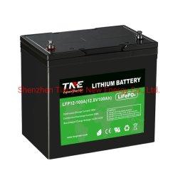 12V 100Ah глубокую цикла литиевый аккумулятор для морских/RV/Скруббер/солнечной/UPS