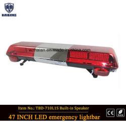 경찰 바 빛의 한가운데에 Speker를 가진 빨간 경고 바 빛