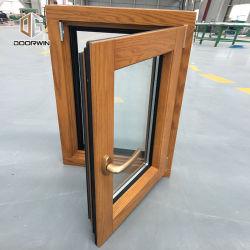 Neigung-Öffnungs-inneres Öffnungs-Flügelfenster-Fenster mit Amerikaner-berühmtem haltbarem Bediener, Amerika-Art-festes Holz-Aluminiumflügelfenster-Fenster
