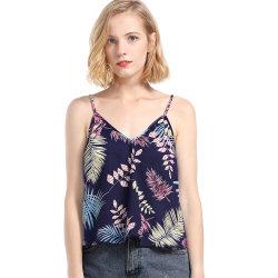 Nouvelle Conception de la Plage D'été Slim V Cou Imprimé Floral Tanktop Strip Femmes
