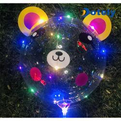 Gran aire brillante destello de luz LED de látex Globo Bobo globos