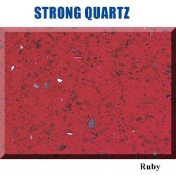 Steen van het Kwarts van de rode Kleur de Kunstmatige