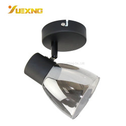 Nouveau style de lampe en verre d'usine de l'ombre LED de base de fer noir E27 max 60W mur Plafond spot ampoule lampe
