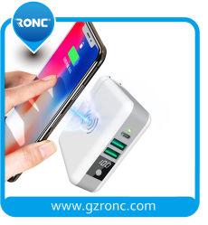 Promotie 3 in Banken 6700 van 1 Mobiele Macht van de Telefoon mAh, de Slimme Draagbare Bank van de Macht van Qi van de Output Powerbank Draadloze, Dubbele USB Draadloze