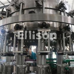 مشروع المفتاح الدوار يمكن الزجاج البلاستيك زجاجة المشروبات الغازية الخفيفة تتلألأ خط إنتاج تعبئة المياه/ خلط سائل تعبئة المشروبات CSD ماكينة المصنع