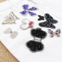 Custom Hotfix Diamond бабочка вышитый исправлений высокое качество вышивка мотивов