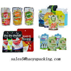 Встать чехол продовольственной упаковки напитков упаковка Ziplock пластиковый пакет саше мешок соломы Alumium сетку моющего средства упаковки Bag угловое соединение сумки для воды молоко сока напитков