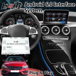 Lsailt Android 7.1 Interface de navigation GPS pour Mercedes Benz C Classe W205 Ntg 5.0 Support de manette de commande d'origine
