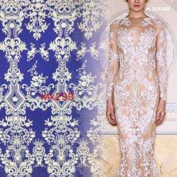 Gute Qualitätsklassisches Blumen-Drucken-Stickerei-Spitze-Gewebe für Hochzeits-Kleid-Partei-Kleid