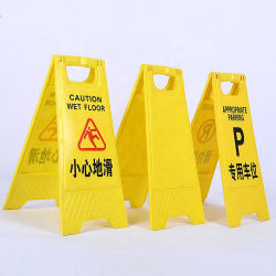 Impressão Double-Side personalizados de aviso amarelo de aviso de plástico de piso molhado
