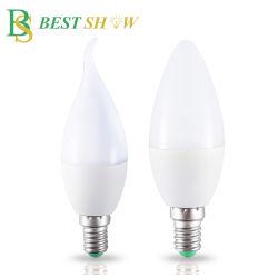 홈 디데코레이트 LED 캔들 램프 전구 E27 E14 B22 3W 불꽃 샹들리에 조명 2835 SMD 110V 220V