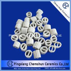 Uno de los anillos de cerámica de embalaje de productos químicos para el secado, la torre de refrigeración