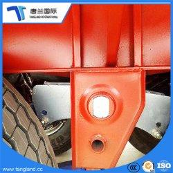 30-80 la tonnellata Cina ha reso a parete laterale il rimorchio a base piatta con la rete fissa all'inscatolare a/alimento/pezzi di ricambio di trasporto
