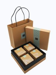 Het klassieke Verpakkende Vakje van de Gift van de Thee van het Document van Kraftpapier van het Karton