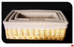 Ивы Economic-Friendly корзина для хранения с ткань гильзы цилиндра
