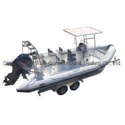Luxury Hyplaon 7 metros Iate insufláveis casco de fibra rígida barco inflável para o Turismo