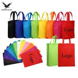 Il marchio su ordinazione di prezzi poco costosi del fornitore di Schang-Hai ha stampato il sacchetto di Tote non tessuto laminato, Eco che il tessuto amichevole trasporta il sacchetto non tessuto riutilizzabile dei pp