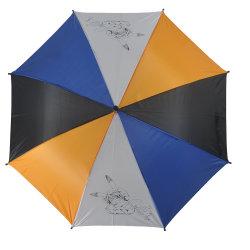 Oberster blauer Karikatur-Kind-langer Stock-gerader Kind-Regenschirm für Jungen-windundurchlässige Abdeckung-Luftblasen-bunten Regenbogen-Regenschirm