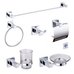 Современный дизайн 6 штук в ванной комнате набор аксессуаров Chrome Ванна для принадлежностей