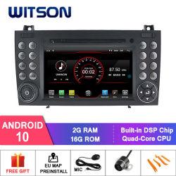벤즈 Slk200/Slk280/Slk350/Slk55 2004-2012 지원 이하 모니터에 가득 차있는 영상 산출을%s Witson 쿼드 코어 인조 인간 10 차 DVD GPS는 미러 링크를 좋아한다