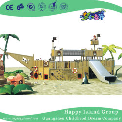 Piscina grande navio pirata de madeira Playground equipamento (HHK-5401)