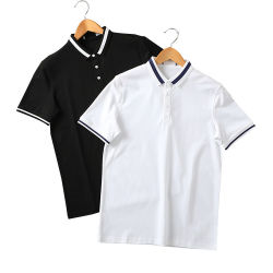 여름 반팔 폴로 셔츠 100 코튼 프린트 Poloshir츠 패셔너블한 남성용