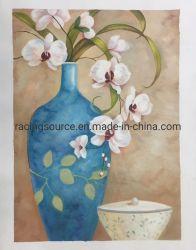 الفن الحائطي رسم زيتية يدوية الصنع زهرة اكريليك اللوحة
