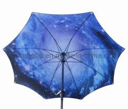 Polyester-geöffneter Regen-Patio-Regenschirm