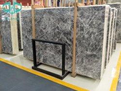 지면과 벽지 도와를 위한 얼음 회색 대리석 석판