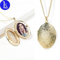 Yiwu usine cadre photo personnalisé de gros médaillon Necklace Mode bijoux