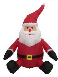 4ft 앉아서 크리스마스에 레드 슈트를 입고 산타클로스를 날려버릴 수 있습니다. 실내 야외 파티 장식으로 꾸며져 있습니다