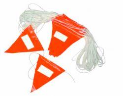 다채로운 도로 안전은 경고 안전 만국기 삼각형 페넌트 깃발을 일렬로 세운다