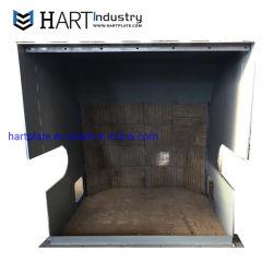 Sobreposição de arco aberto resistente ao desgaste de disco rígido da placa de aço cromo na superfície de soldadura