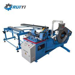 Alta velocidade do duto de espiral tubo tubo fazendo máquina de formação com cortador de Rolo