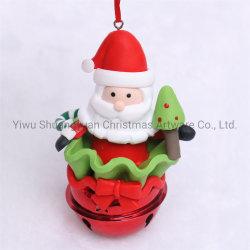 Polímero de Natal com argila Santa Claus para Holiday casamento festa fontes de decoração ornamento do Gancho de dons artesanais