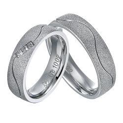 Здоровье Титан магнитной полосы с ворсом Свадьба Gold кольцо