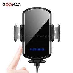 Schnell 3.0 schneller Qi Handy-drahtlose Auto-Aufladeeinheit mit LED-hellem Firmenzeichen