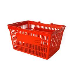 패션 컬러풀한 소매 식료품 가게, 손수 플라스틱 슈퍼마켓 쇼핑 바구니