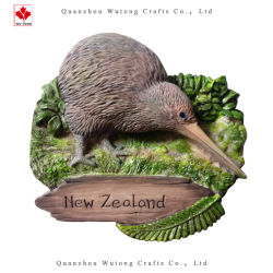 레진 뉴질랜드 시티 관광 기념품 냉장고 관광 선물 집 냉장고 장식 자석