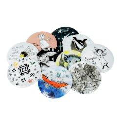 Promoção Ronda Personalizada Impressão a Cores Loja Metal Botão de estanho crachá para Item de Oferta