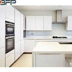 Laca Blanco alto brillo Armario alto moderno Inicio armarios de cocina