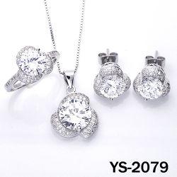 Levering voor doorverkoop 925 de Echte Zilveren Juwelen CZ van de fabriek van de Manier die voor Vrouwen worden geplaatst