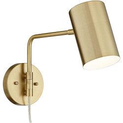 Jlw-G025 Wall Lamp Plug-in en laiton brossé éclairage vers le bas du vérin de l'ombre pour la chambre Salle de séjour de chevet