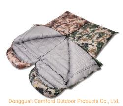 Dongguan-Fabrik-kundenspezifischer im Freien kampierender Produkt-doppelter aufblasbarer Militärschlafsack
